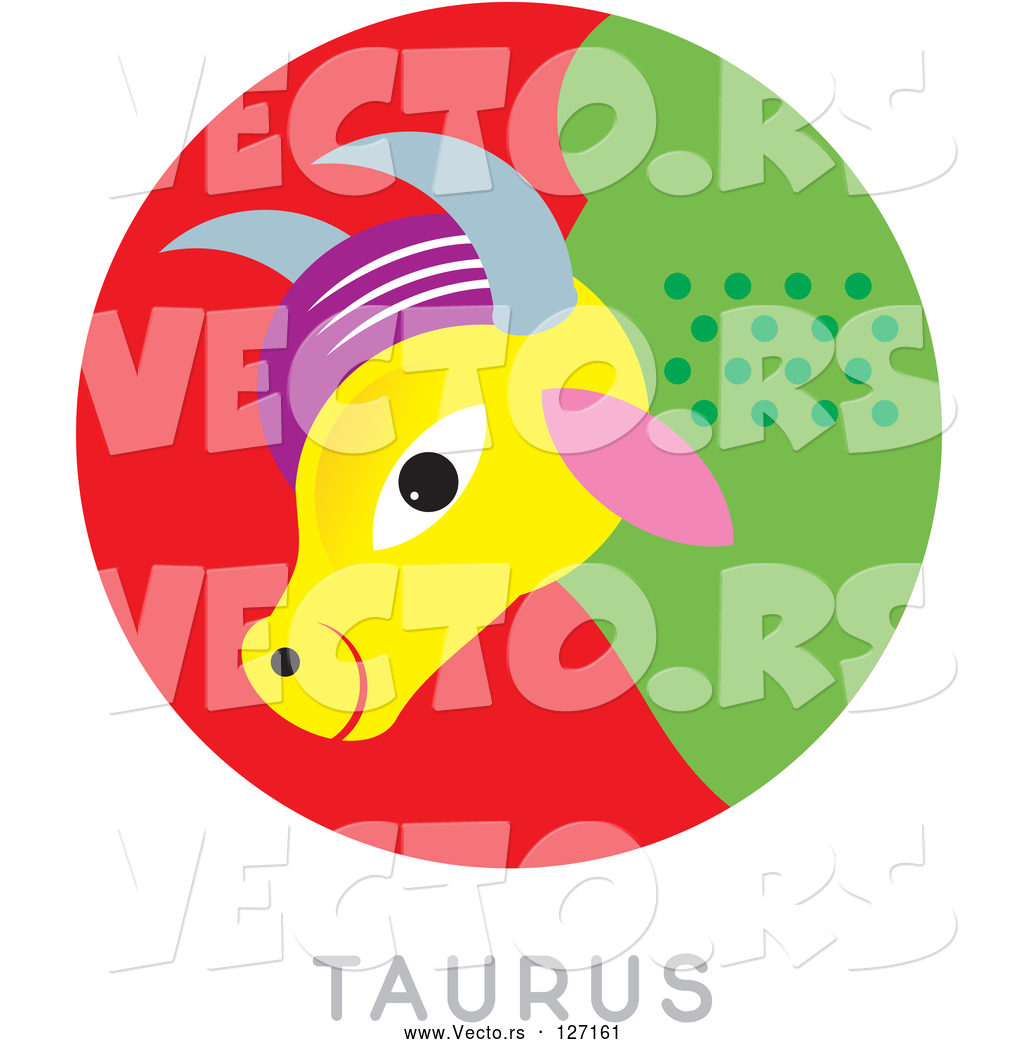 1024x1044 Vector Of A Colorful Taurus Astrology Sign By Venki Art