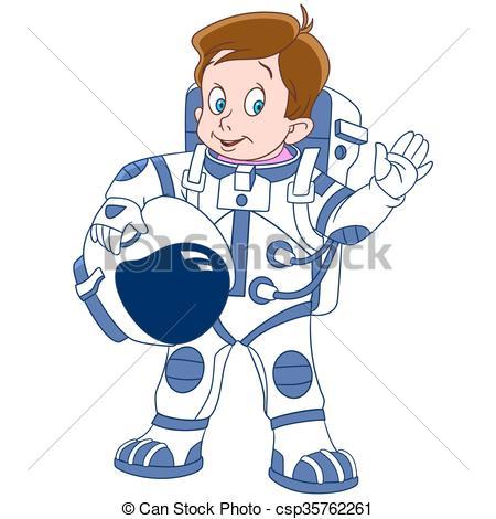450x470 Cute Cartoon Boy Astronaut. Cute And Happy Cartoon Boy Clip Art
