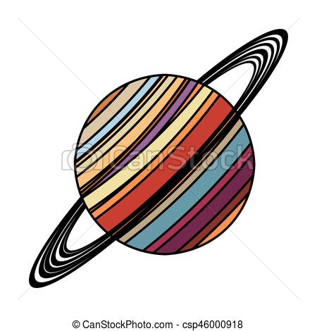 450x470 Saturn Planet Astronomy Image Vector Illustration Eps 10 Vector