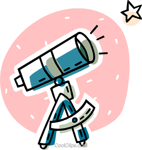 454x480 Telescope Royalty Free Vector Clip Art Illustration Vc038630