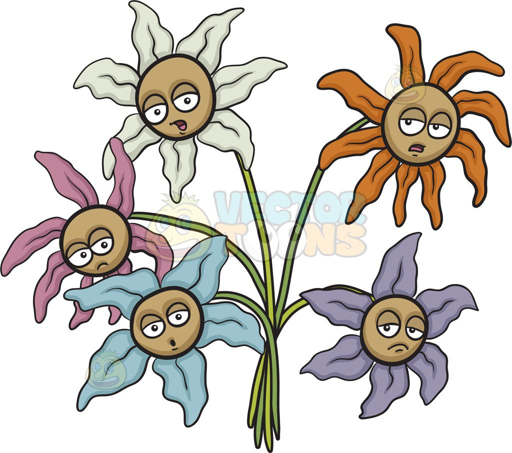 1024x907 Limited Flower Cartoon Pictures Clip Art In Pot Illustration Stock