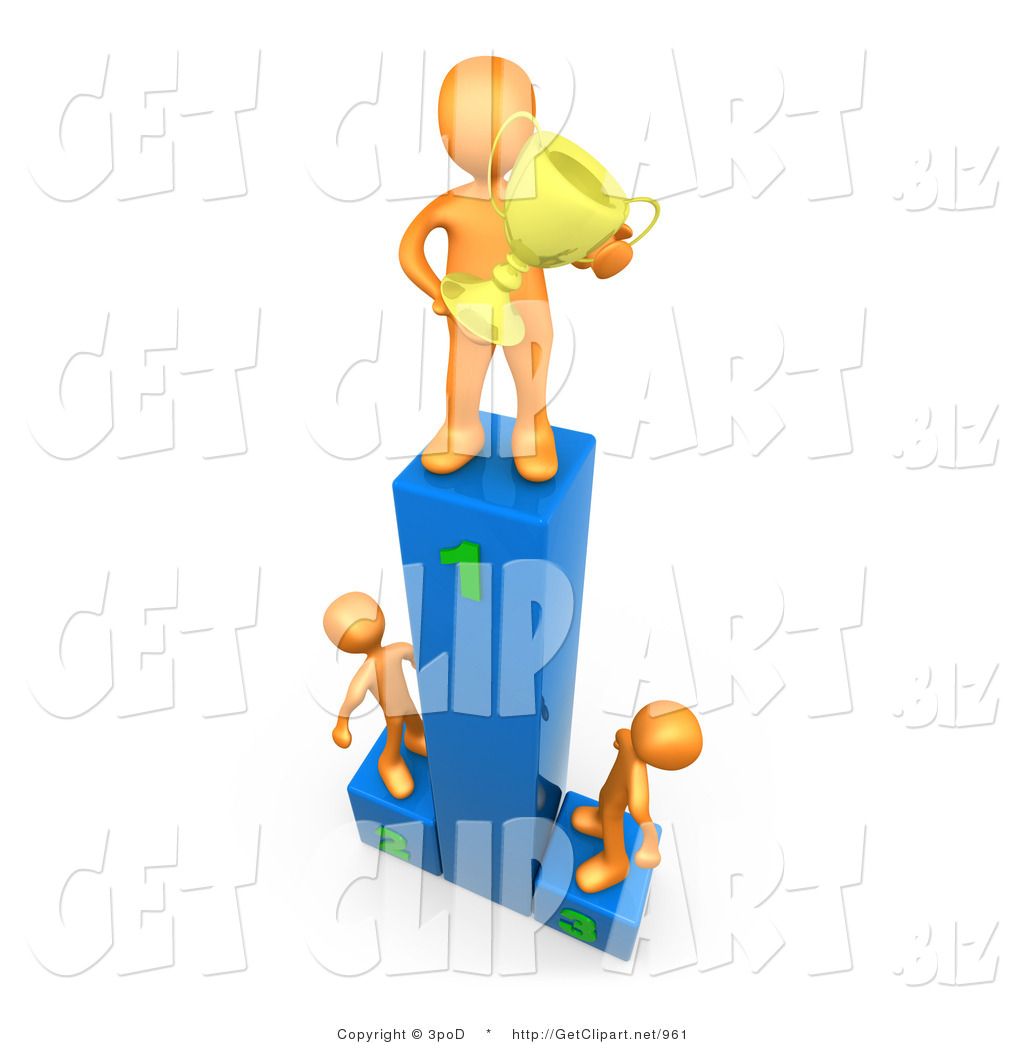 1024x1044 3d Clip Art Of A Successful Athlete Man Holding A Golden Trophy