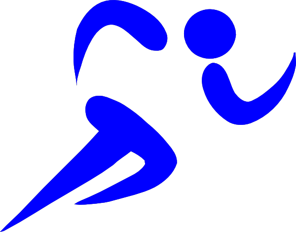 600x470 Blue Athlete Clip Art