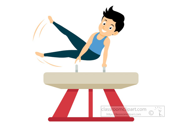 550x400 Gymnastics Clipart Clipart Athlete Performing Gymnastics
