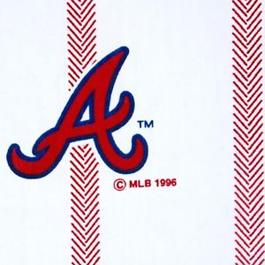 300x300 Atlanta Braves Twin Flat Sheet Dan River Baseball Mlb Cutter 1996