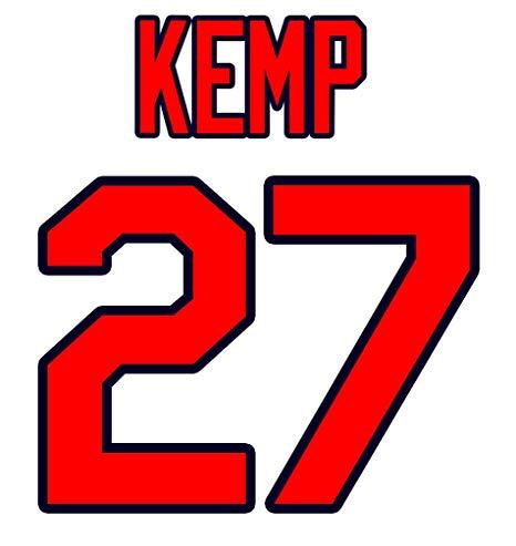 466x493 Matt Kemp Atlanta Braves Jersey Number Kit, Authentic Home Jersey