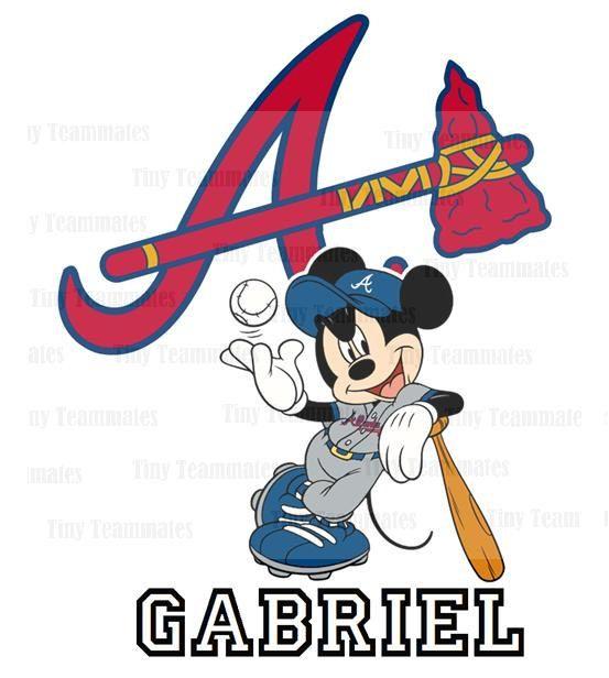 553x616 Mickey Inspired Atlanta Braves Baseball Digital By Tinyteammates