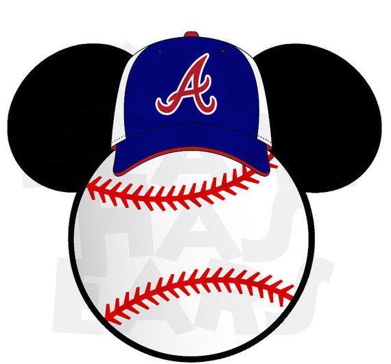 570x531 Printable Diy Baseball Atlanta Braves Mickey By Myhearthasears