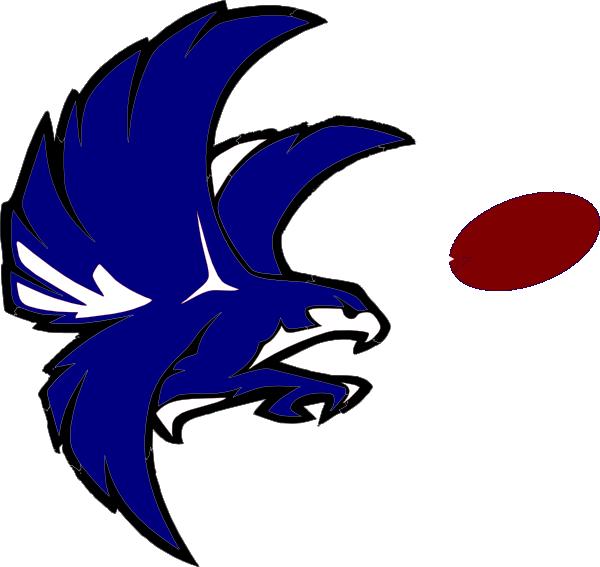 600x567 Blue And White Falcon Clip Art