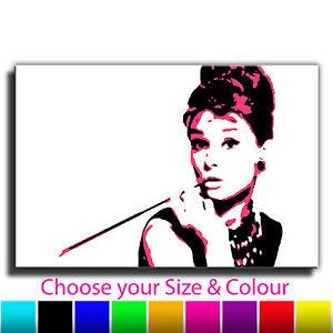 300x300 Audrey Hepburn Banksy Single Canvas Wall Art Picture Print
