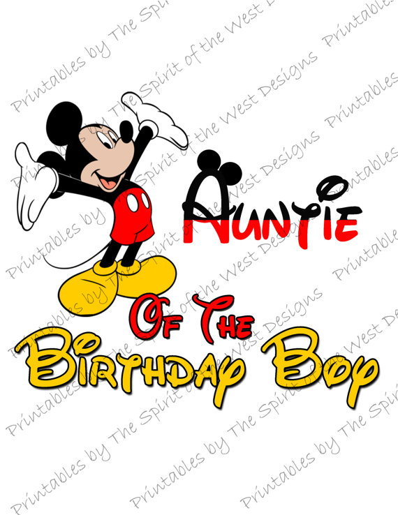 570x738 Auntie Of The Birthday Boy Mickey Mouse Iron On Image Mouse Ears