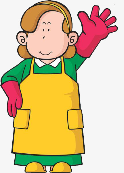 431x600 House Aunt Wearing Gloves, Apron, House Aunt, Gloves Png Image