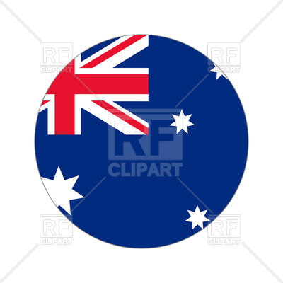 400x400 Round Icon Of Australia Flag On White Background Royalty Free