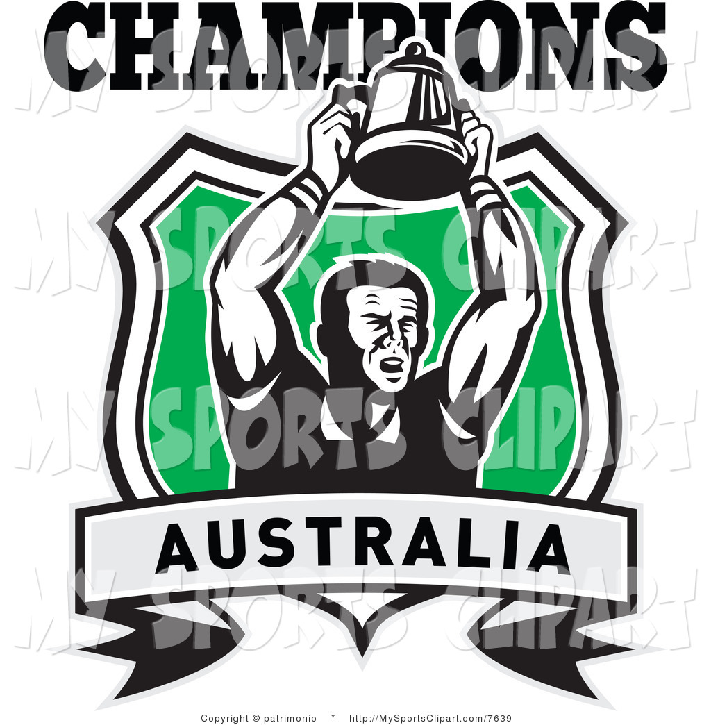 1024x1044 Sports Clip Art Of A Australia Champions With A Rugby Player