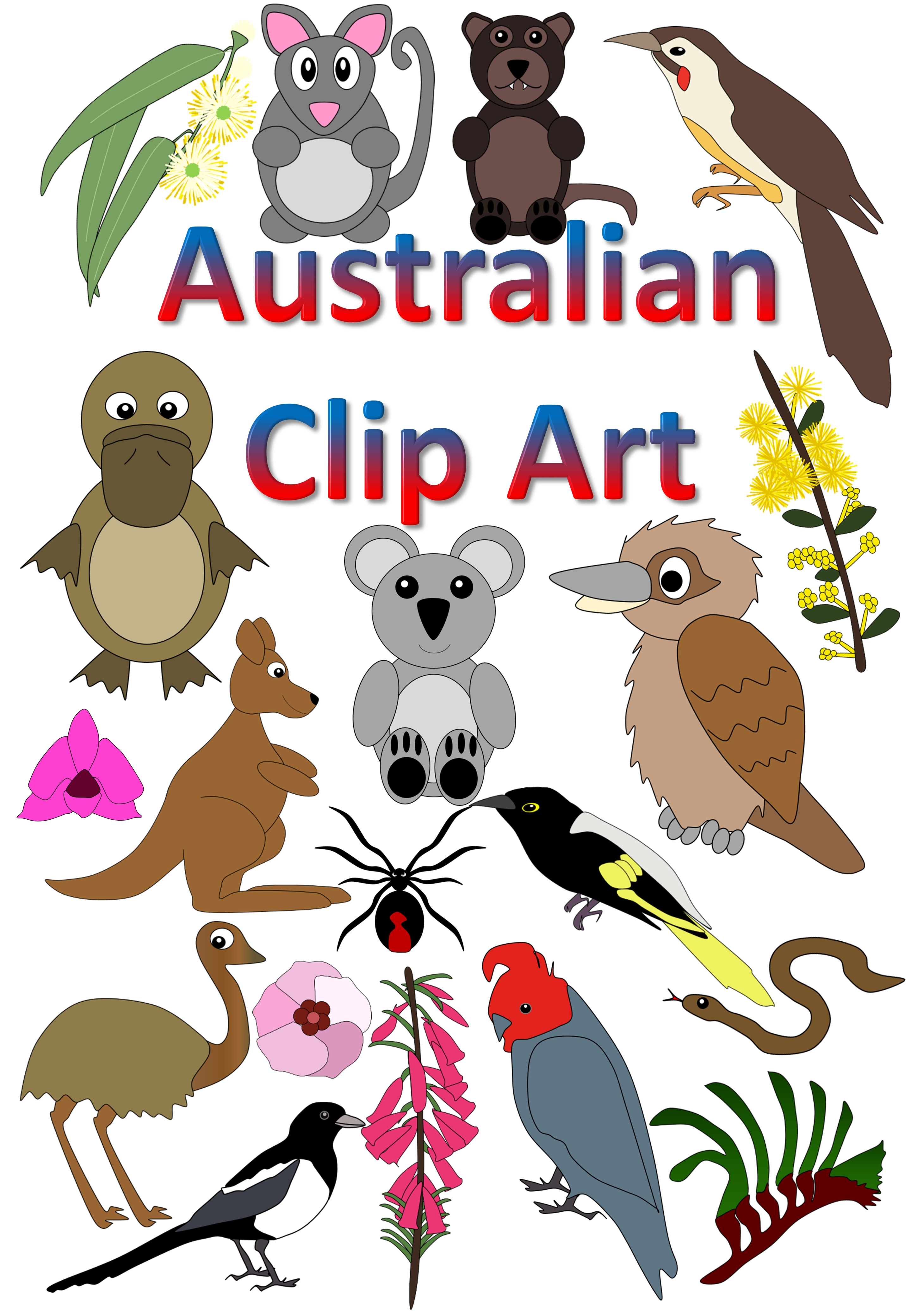2880x4160 Aboriginal Clipart Australian Animal
