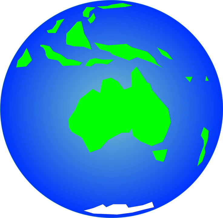 736x720 Earth Clipart Free Australia Earth Globe Free Vector Graphic