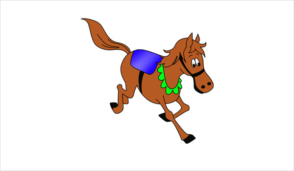 600x350 Horse Coloring Pages