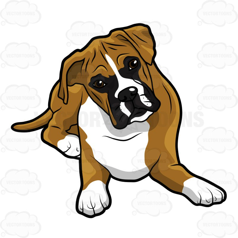800x800 Boxer Dog Clipart Group