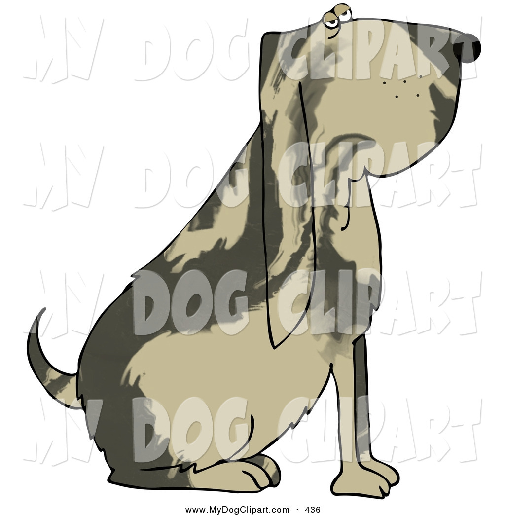 1024x1044 Clip Art Of A Big Bloodhound