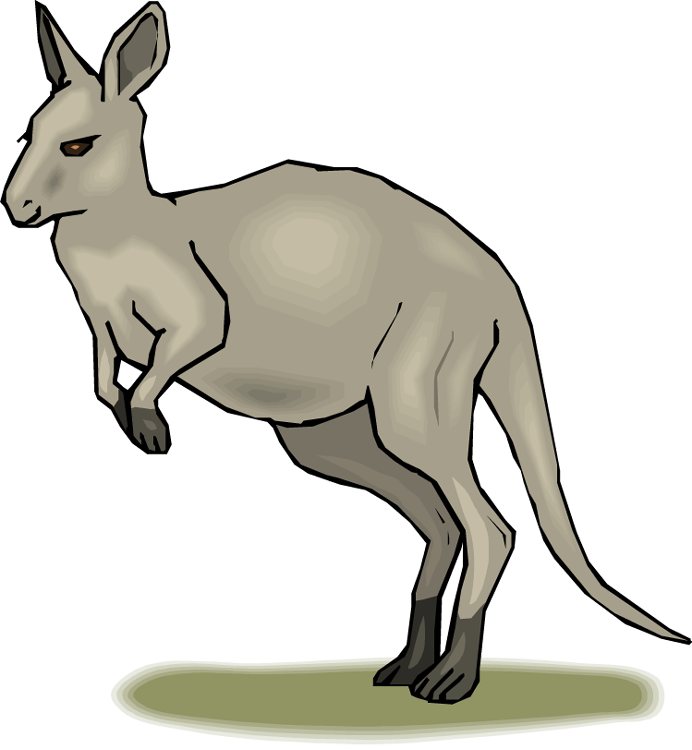692x750 Australian Clipart Kangaroo Clipart