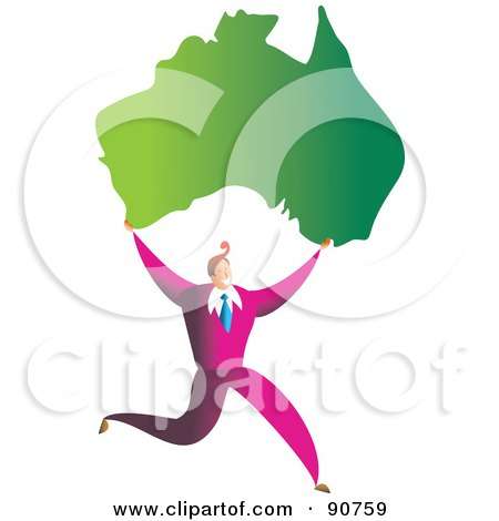 450x470 Royalty Free Clip Art Illustration Of An Australian Flag Globe