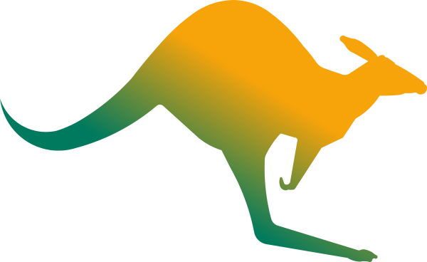 600x368 Aussie Kangaroo Clip Art