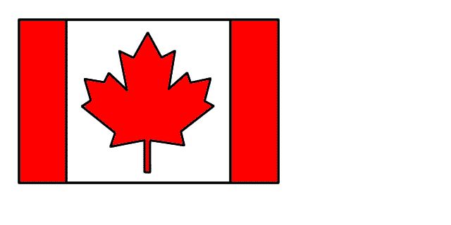 640x320 Brilliant Canadian Flag To Color