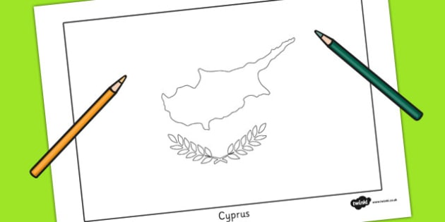 630x315 Cyprus Flag Colouring Sheet