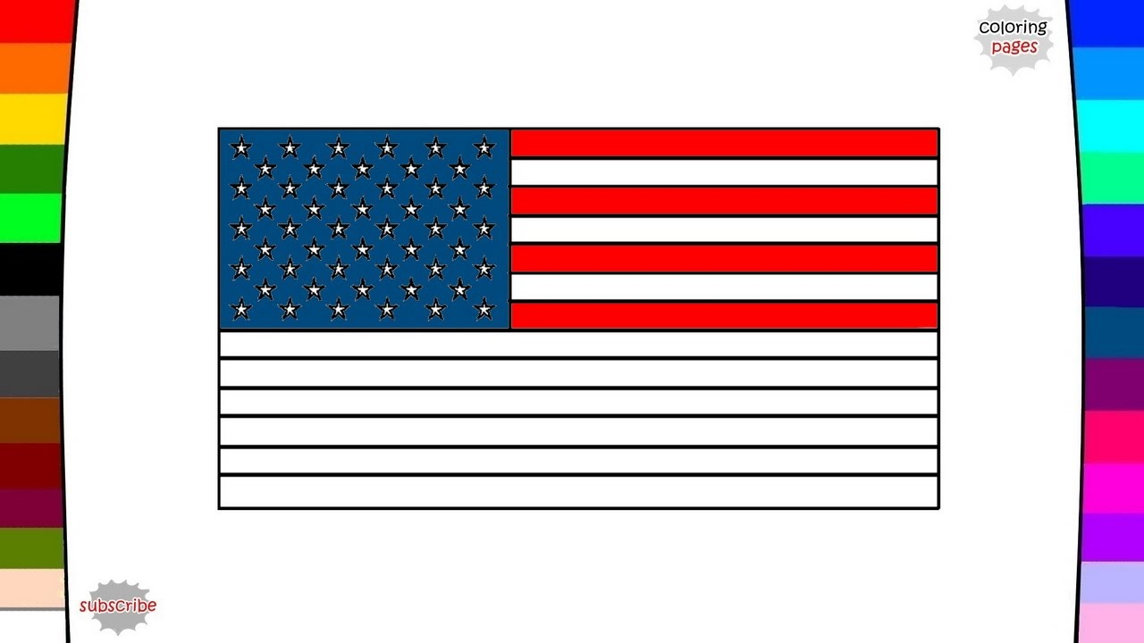 1280x720 Flags Of North America Countries Flag Coloring Pages