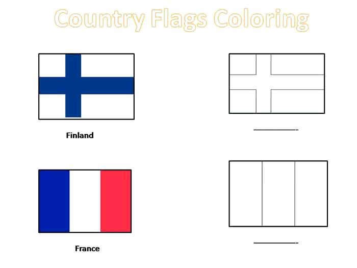 700x525 Norway Flag Coloring Page Country Flags Coloring Pages For Kids