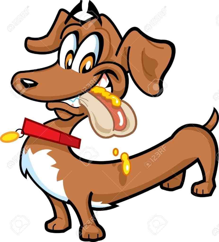 926x1027 Cartoon Dog Royalty Free Clip Art Image Funny Happy Dachshund