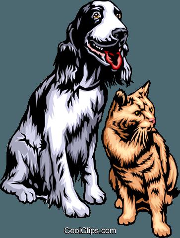 363x480 Dog Amp Cat Royalty Free Vector Clip Art Illustration Anim0315