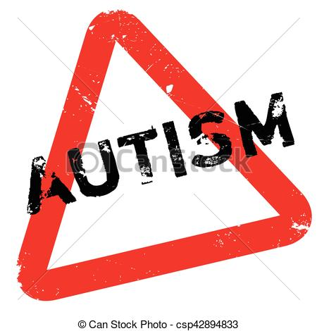 450x470 Autism Rubber Stamp. Grunge Design With Dust Scratches . Vectors