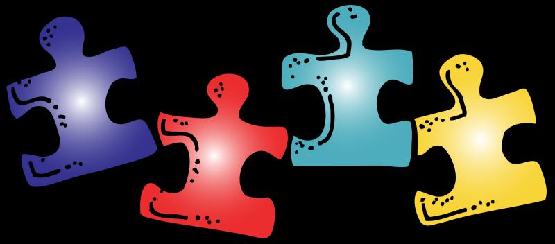 800x352 Autism Puzzle Piece Clipart