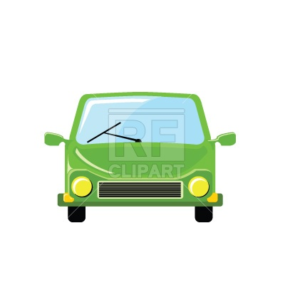 400x400 Cartoon Car, Front View Royalty Free Vector Clip Art Image