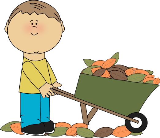 522x451 Boy With A Wheelbarrow Full Fall Leaves Whoa Cozy Day