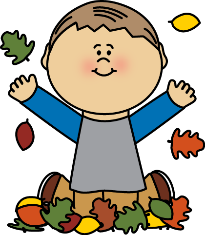 420x482 Boy Playing In Leaves By Mycutegraphics Autumn