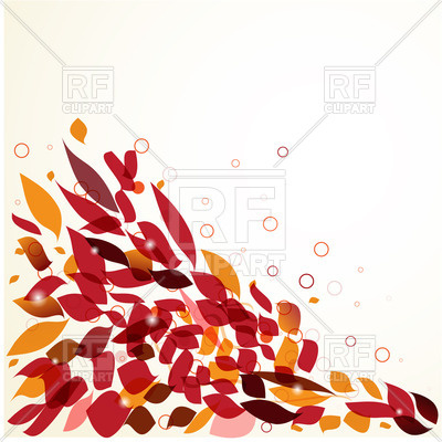 400x400 Corner Of Colorful Autumn Leaves Royalty Free Vector Clip Art