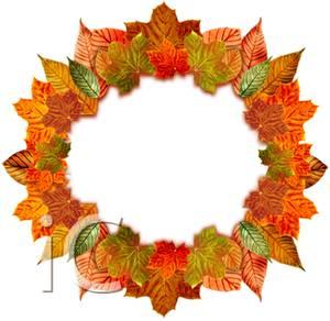 300x292 Wreath Of Autumn Leaves