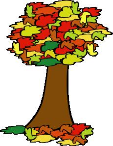 231x297 Fall Coloured Tree Clip Art