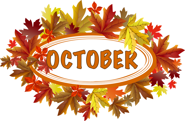 750x489 Fall Clipart October Calendar