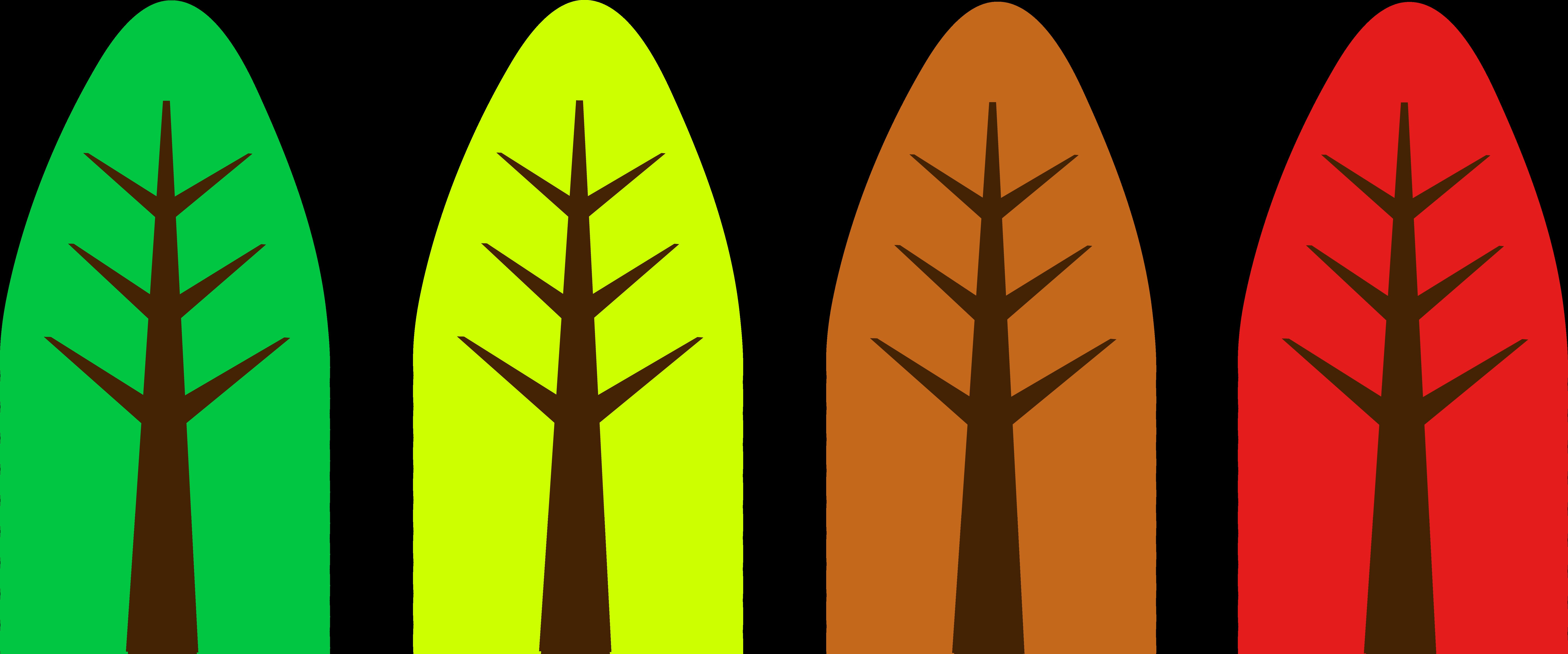 8102x3378 Cute Simple Tree Designs