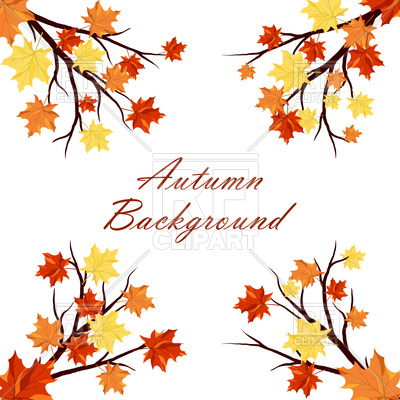 400x400 Maple Autumn Background Royalty Free Vector Clip Art Image
