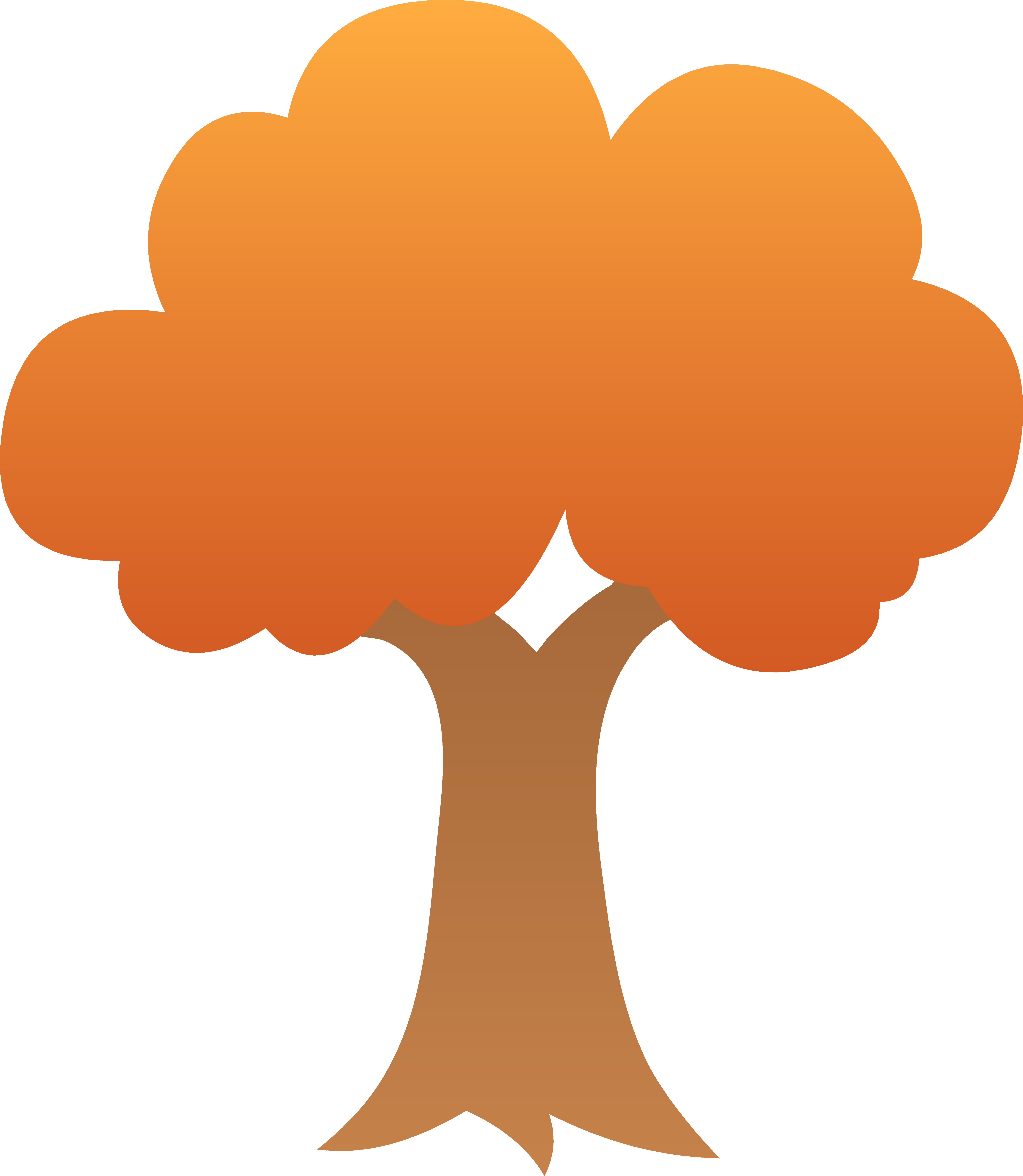5486x6309 Autumn Tree Clip Art