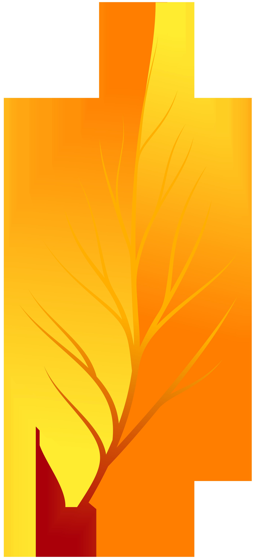 2741x6000 Yellow Autumn Leaf Png Clip Art