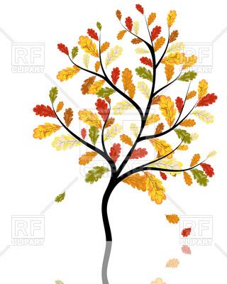 320x400 Autumn Tree Royalty Free Vector Clip Art Image
