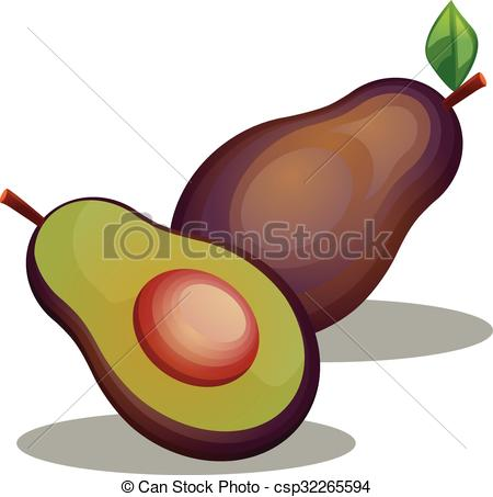450x453 Avocado Vector Icon. Vector Illustration Of An Avocado. Eps