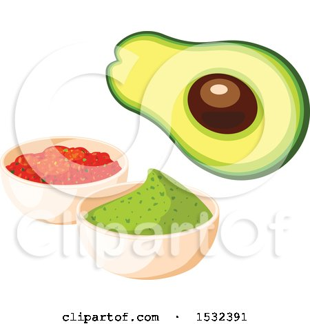 450x470 Royalty Free (Rf) Avocado Clipart, Illustrations, Vector Graphics