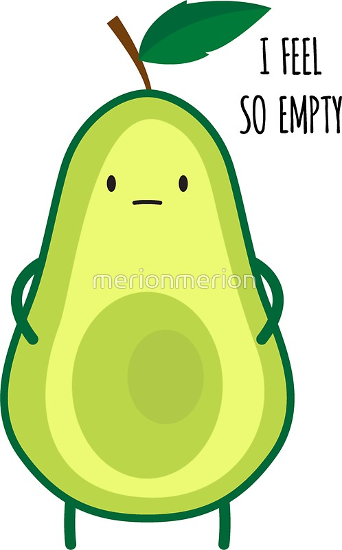 498x800 Avocado Clipart Sad