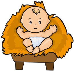 259x250 Jesus In A Manger Clipart